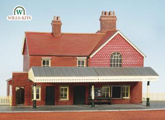 Country Station, brick built, with platform Craftsmans Kit