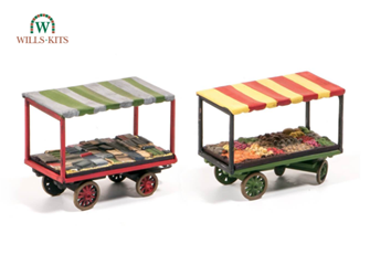 Market Stalls, 4-wheel barrow inc. loads (2)