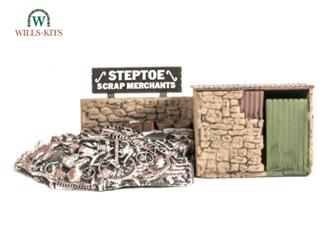 Scrapyard, Small Stone Building & Scrap Pile