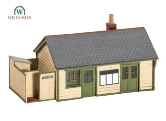 Wayside Station, timber, slate roof, brick chimney