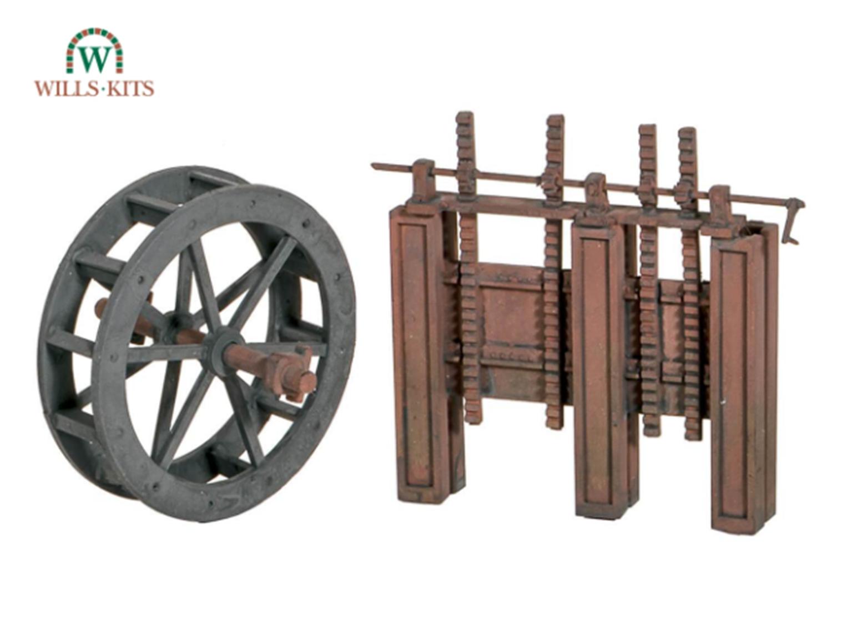 Water Wheel & Sluice Gates