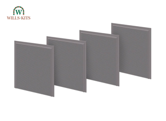 Wills Kits SSM313 Roller Shutter Doors Detail Pack (4 per pack)