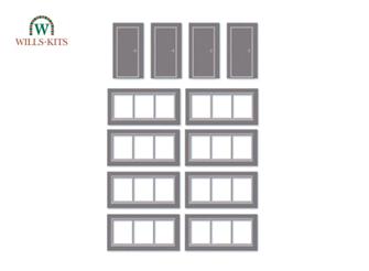Wills Kits SSM314 Doors & Windows Detail Pack (8 windows, 4 doors per pack)