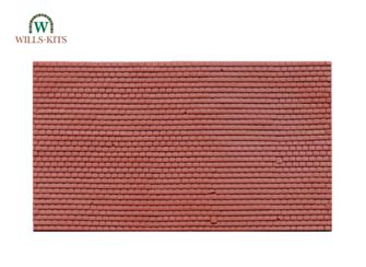 Plain Tiles -  injection moulded plastic sheets (4 Sheets)