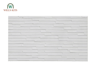 Clapboarding -  injection moulded plastic sheets (4 Sheets)