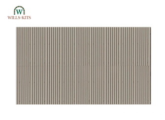 Corrugated Asbestos -  injection moulded plastic sheets (4 Sheets)