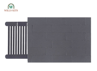 Chequer Plate -  injection moulded plastic sheets (4 Sheets)