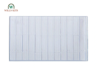 Corrugated Glazing (iron type, matches SSMP216) -  injection moulded plastic sheets (4 Sheets)