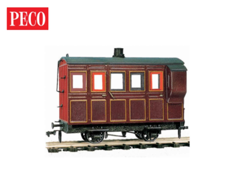 4 Wheel Coach/Brake, maroon livery
