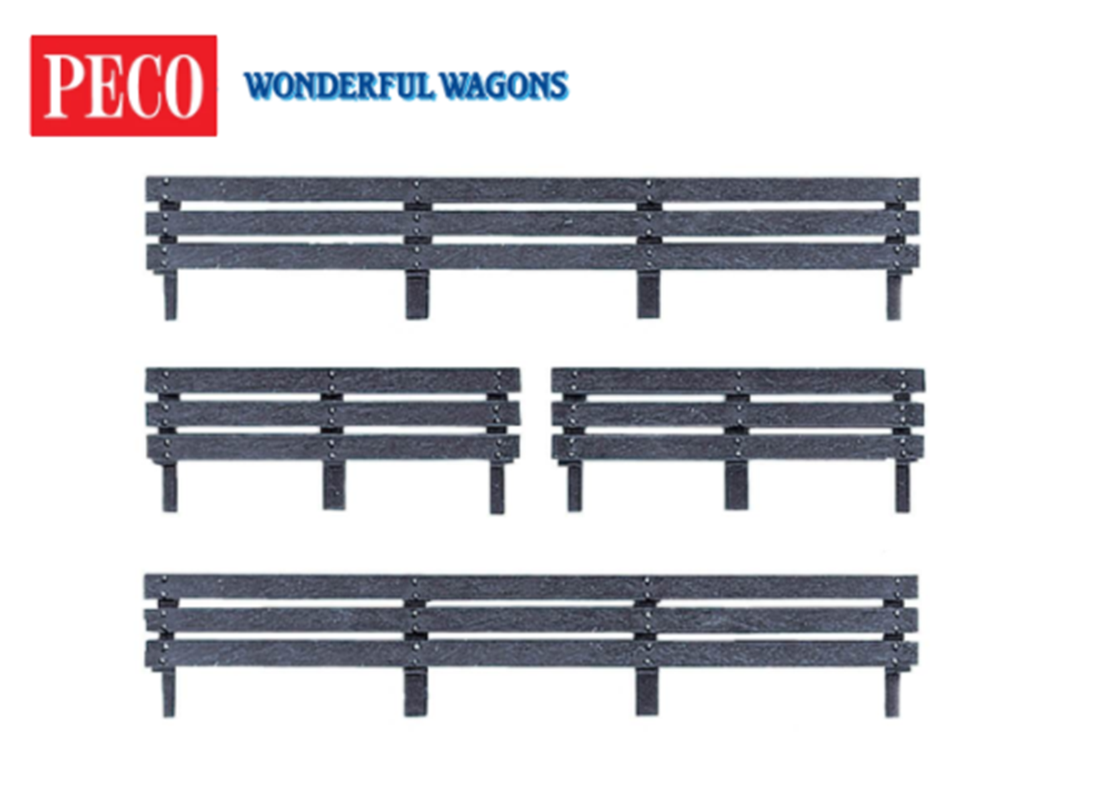 Peco R-6 Coke extension board kit for 7 plank wagons