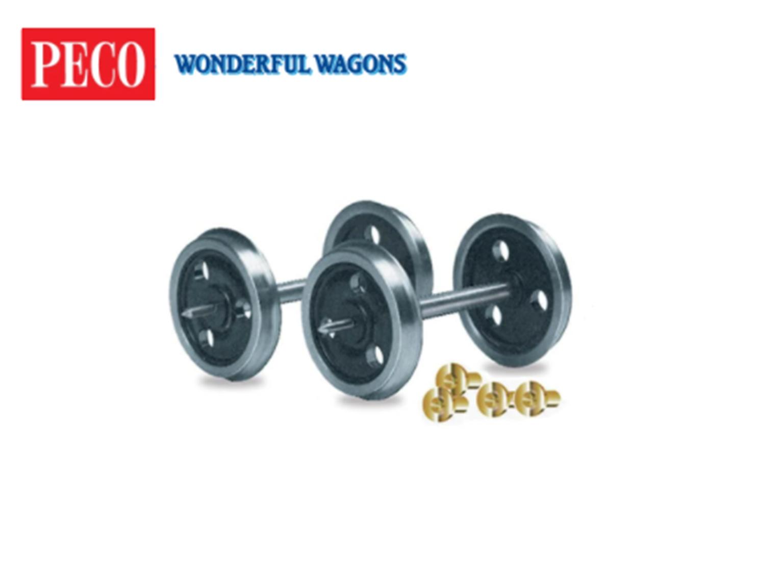 Peco RO7 3-hole Disc wheels & bearings