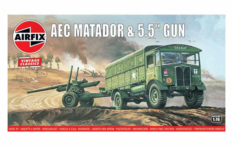 """Airfix Vintage Classics - AEC Matador and 5.5"""" Gun"""