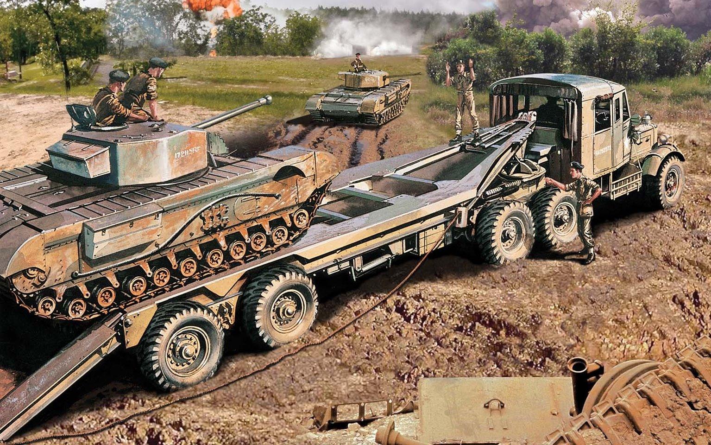 Scammel Tank Transporter 1:76