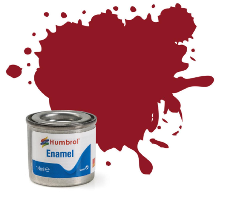 No 20 Crimson Gloss Enamel Paint (14ml)