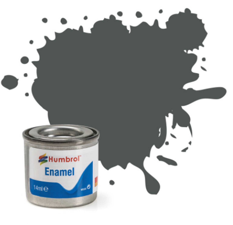 No 27 Sea Grey Matt Enamel Paint (14ml)