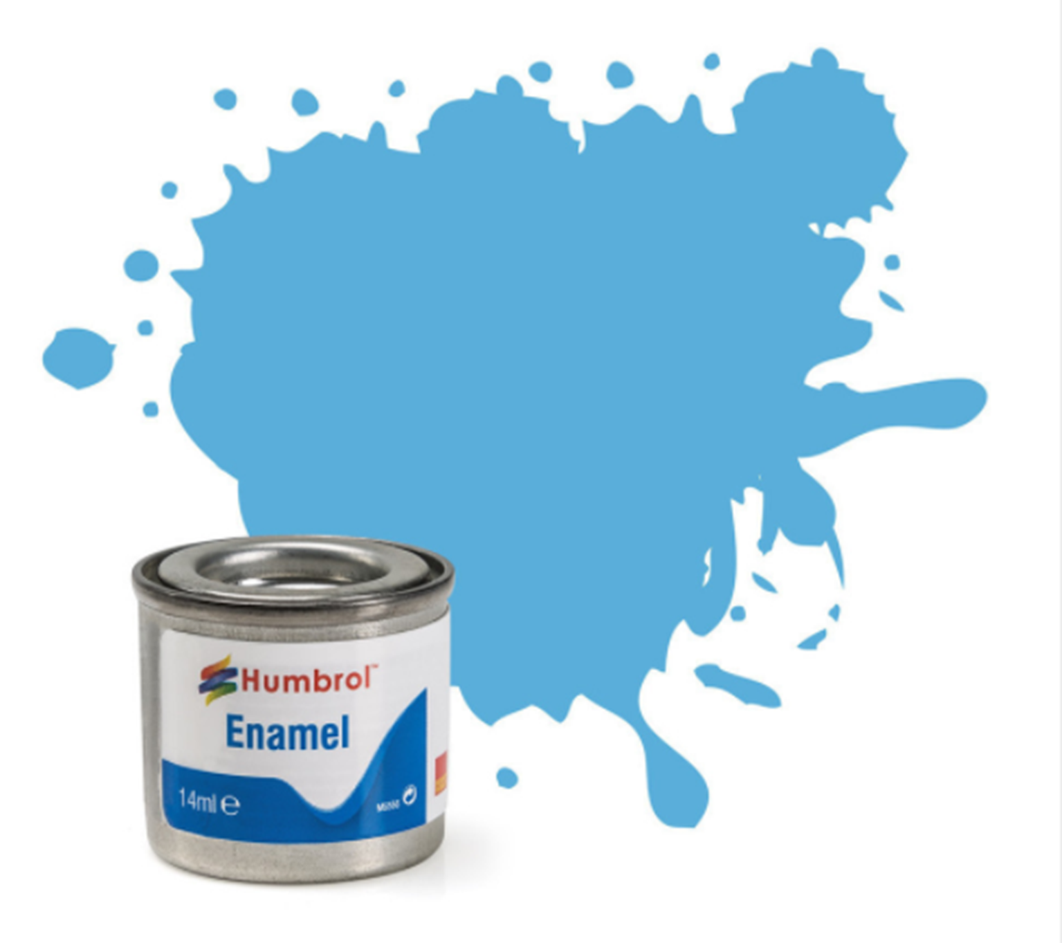 No 47 Sea Blue Gloss Enamel Paint (14ml)