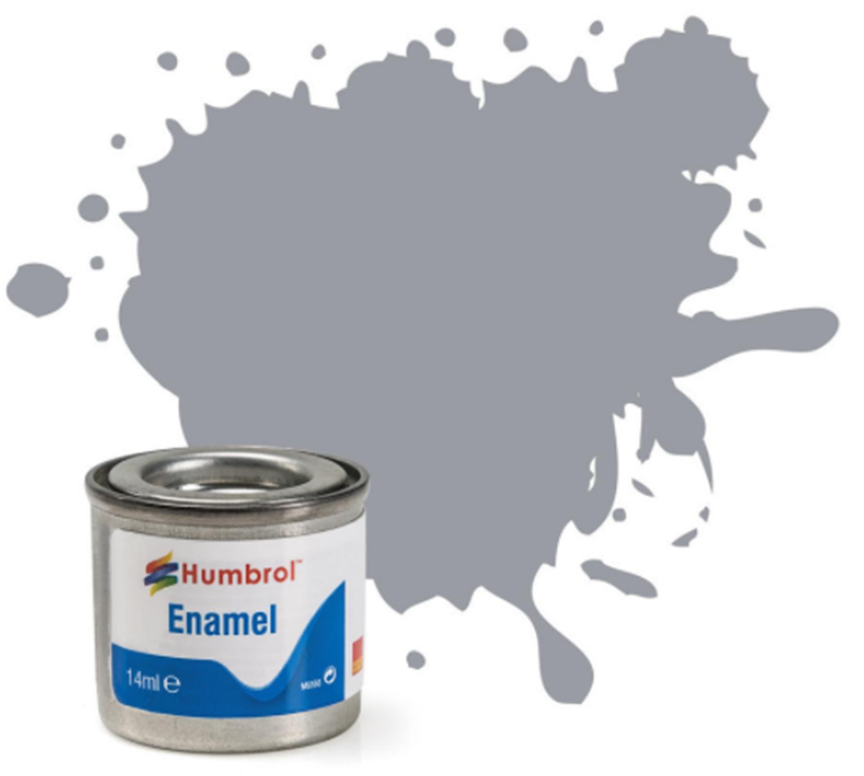 No 64 Light Grey Matt Enamel Paint (14ml)