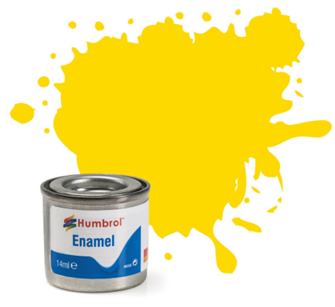 No 69 Yellow Gloss Enamel Paint (14ml)