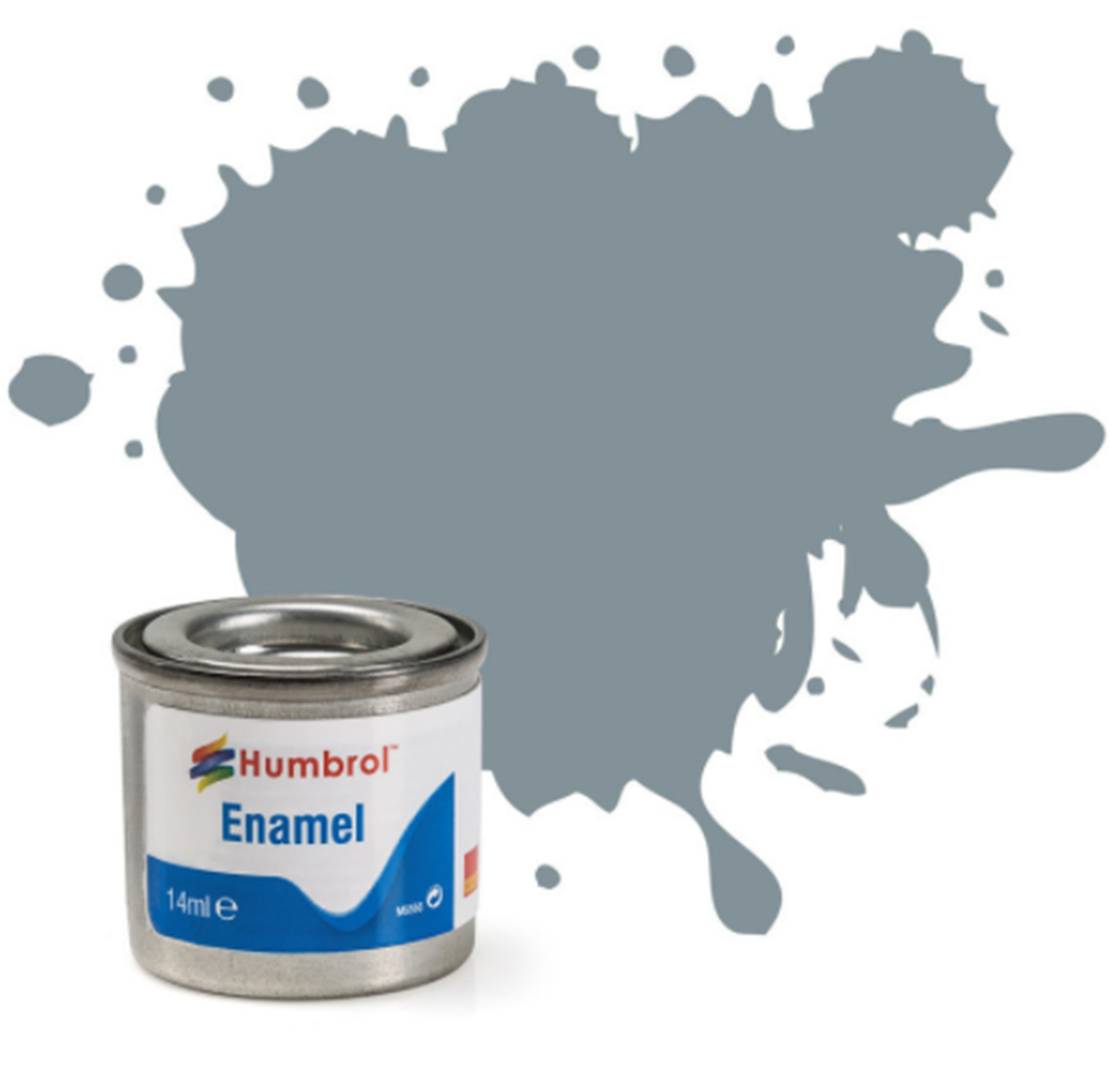 No 87 Steel Grey Matt Enamel Paint (14ml)