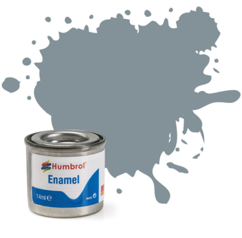 No 87 Steel Grey Matt Enamel Paint (14ml)