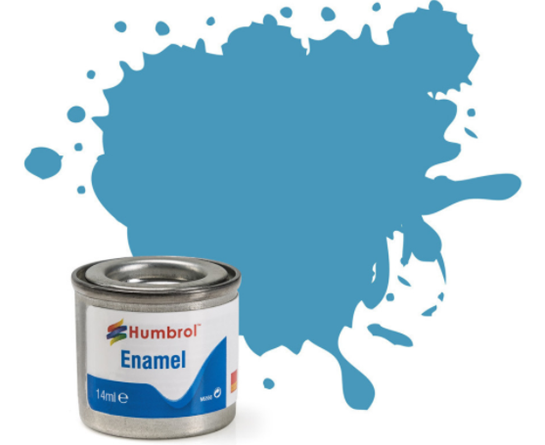 No 89 Mid Blue Matt Enamel Paint (14ml)