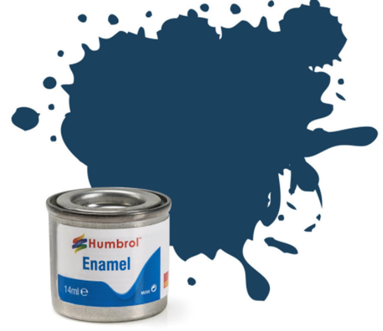 No 104 Oxford Blue Matt Enamel Paint (14ml)