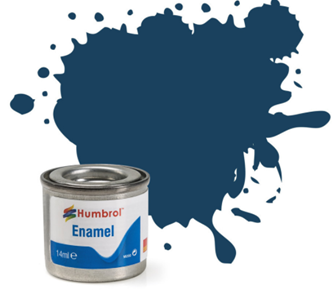 No 104 Oxford Blue Matt Enamel Paint (14ml)