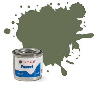 No 105 Marine Green. Matt Enamel Paint (14ml)