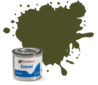No 155 Olive Drab Matt Enamel Paint (14ml)