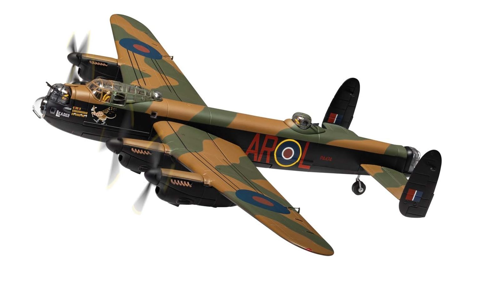 Avro Lancaster B.1 PA474, operated by The Battle of Britain Memorial Flight, the only airworthy Lancaster in Europe
