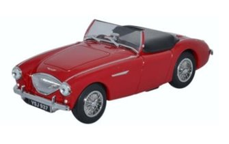 Oxford Diecast AH1005 Austin Healey 100 BN1 (Roof Down) Carmine Red