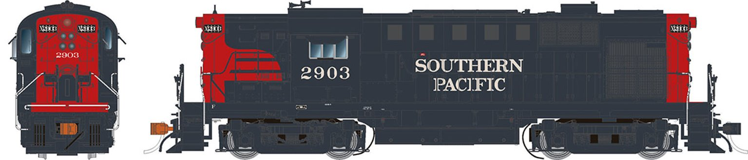 Alco RS-11 Locomotive: Southern Pacific (Bloody Nose) #2903 - DCC Sound