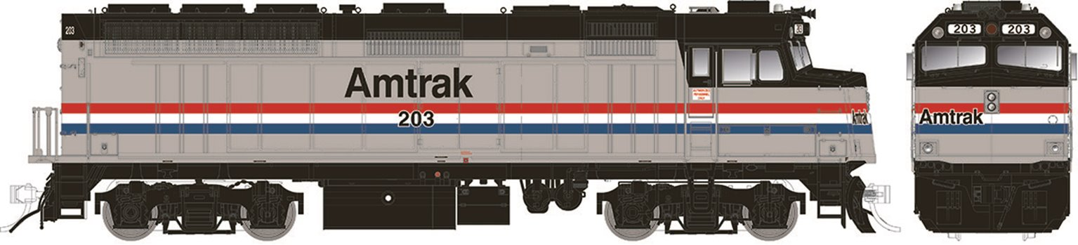 Modernized F40PH w/ditch lights – Amtrak Phase III (1990-2000s) #228 - DC/DCC/Sound