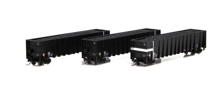 N Set of 3 Thrall High Side Gondola Wagons, CWEX/Black #3 (3)
