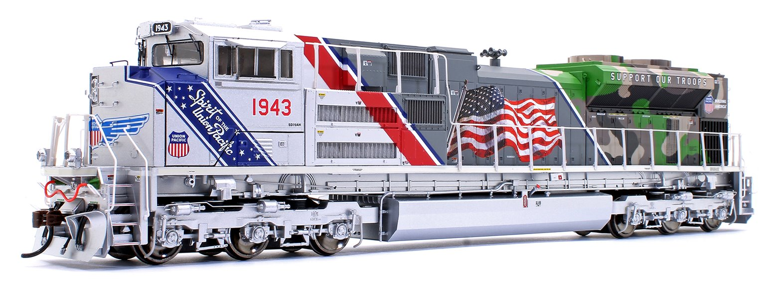"SD70ACe Union Pacific UP #1943 ""Spirit of Union Pacific"" Locomotive with DCC Sound"