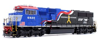 "SD60E Norfolk Southern NS #6920 ""Honor Our Veterans"" Locomotive with DCC Sound"