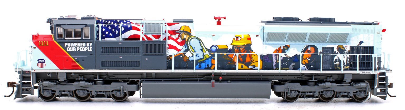 """SD70ACe Union Pacific UP #1111 """"Powered by our People"""" Locomotive with DCC Sound"""