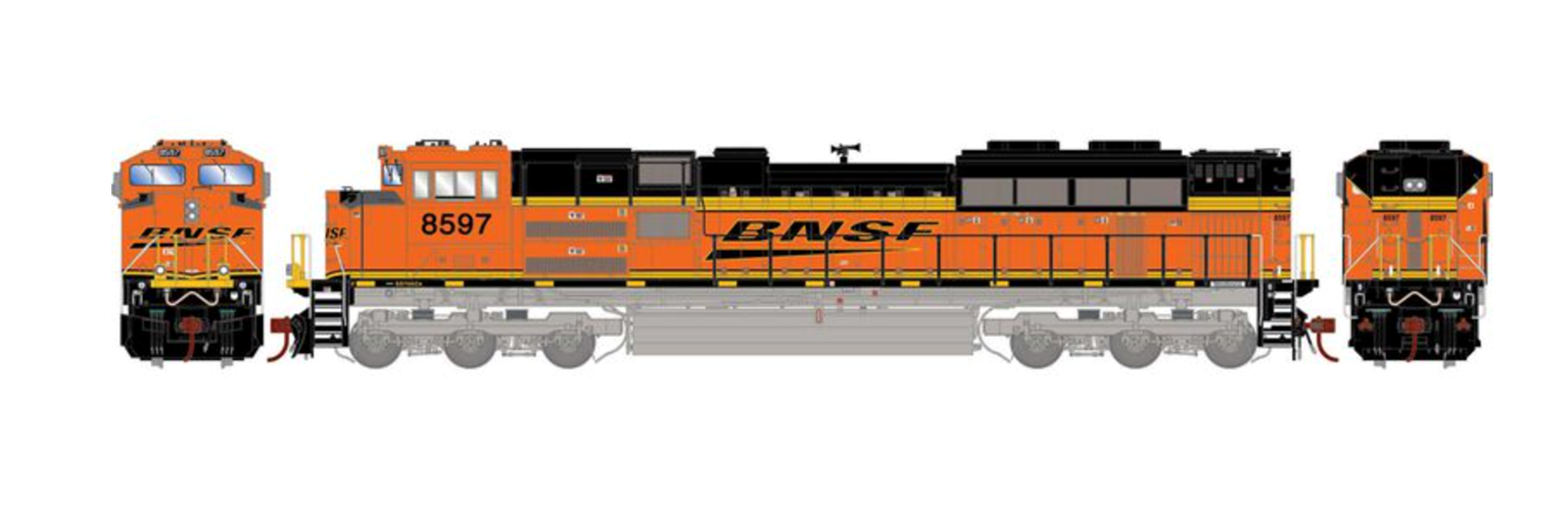 G2 SD70ACe BNSF Diesel Locomotive #8597 with DCC Sound