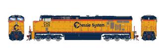 ES44AC B&O Chessie System Diesel Locomotive #8359 with DCC Sound