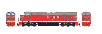 ES44AC CB&Q Burlington Route Red Diesel Locomotive No.1250 with DCC Sound