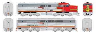 HO Scale PA-1/PB-1 Set: Santa Fe #54L and #54A
