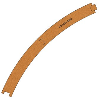10 X Pre-Cut Cork Bed for R8261-8262 R4 Curve Tracks