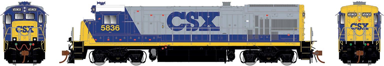 Class B36-7 CSX YN2 white roof Diesel Locomotive #5885 (DCC Ready / Silent)