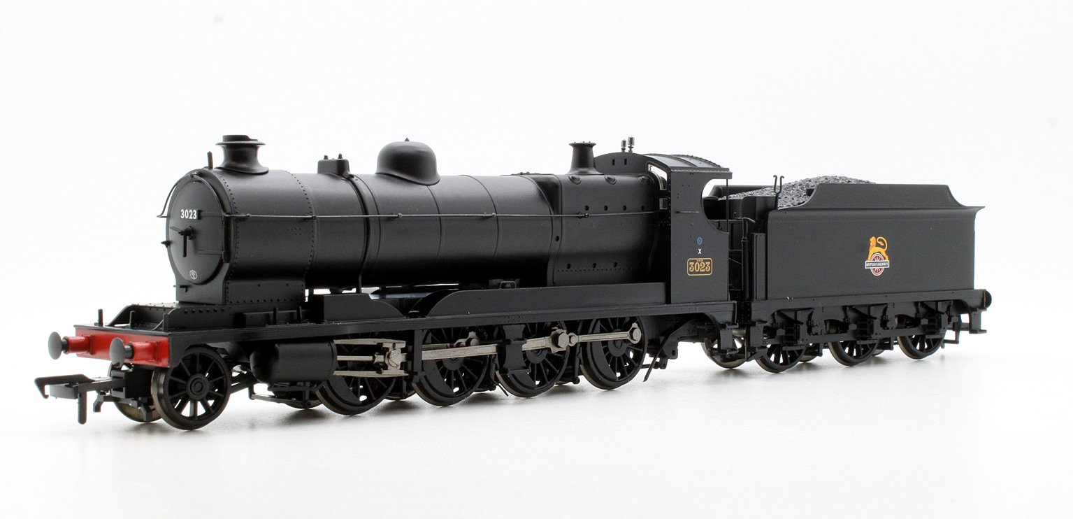 GWR 3000 ROD 2-8-0 Locomotive BR Black Early Emblem #3023