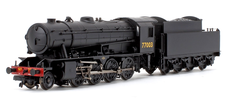 WD Austerity LNER Plain Black 2-8-0 Steam Locomotive No.77003
