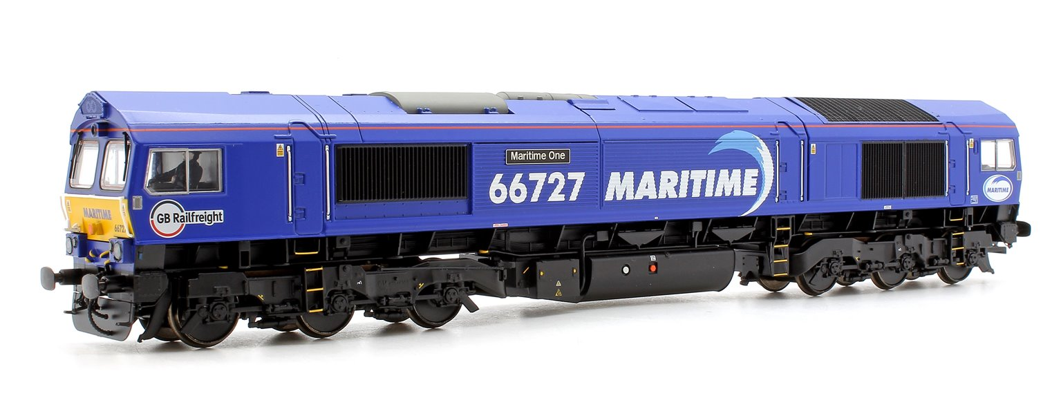 "Class 66 727 ""Maritime One"" Locomotive plus 4x FEA-B Spine Wagon Twin Pack"