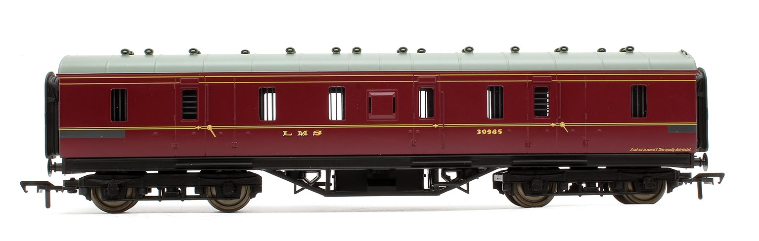 50' Parcels Van Full Brake Coach LMS Crimson