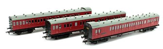 Set of 3 BR Crimson SECR 60ft. Birdcage Coaches