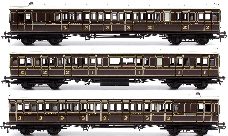 Set of 3 Dark Lake SE&CR Birdcage coaches