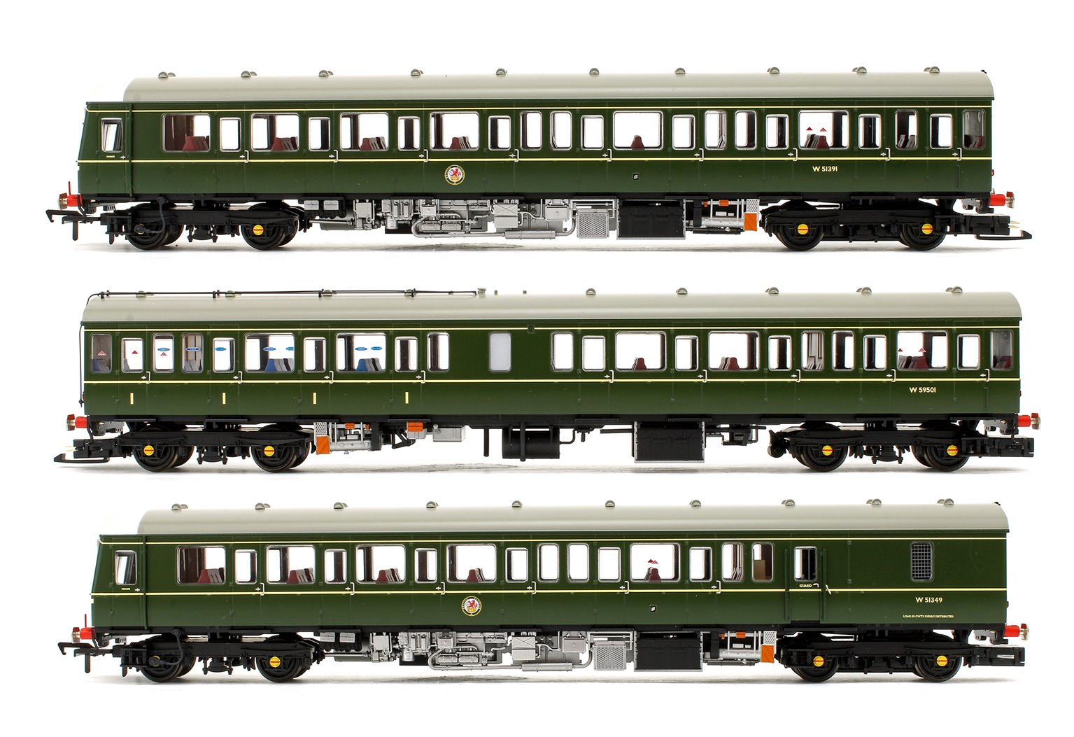 Class 117 3-Car DMU BR Green (Speed Whiskers) DCC Sound